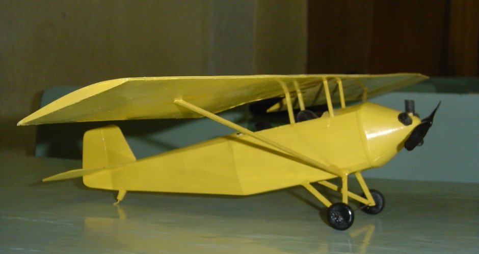 макет самолета из бумаги